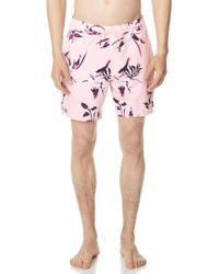 RVCA - Middle Elastic Trunks - Lyst