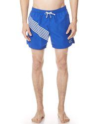 Emporio Armani - Sw 7 Lines Swim Shorts - Lyst
