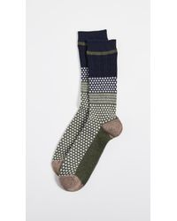 Anonymous Ism - Chesunut Jacquard Crew Socks - Lyst
