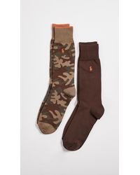 Polo Ralph Lauren - 2 Pack Tipped Camo Socks - Lyst
