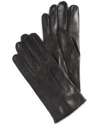 Paul Smith | Striped Piping Leather Gloves | Lyst