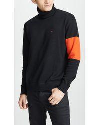 Calvin Klein - Turtleneck Logo Sweater - Lyst