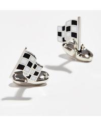 Paul Smith - Checkered Flag Cufflinks - Lyst