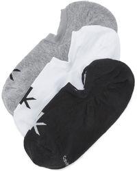 CALVIN KLEIN 205W39NYC - 3 Pack Logo Liner Socks - Lyst