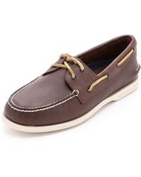 Sperry Top-Sider - A/o Classic Boat Shoes On White Sole - Lyst