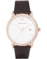 Emporio Armani - Luigi Slim Watch, 43mm - Lyst