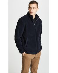 Fred Perry - Borg Zip-through Fleece Jacket - Lyst