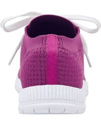 Easy Spirit - Garabi Walking Shoes - Dark Pink Knit - Lyst
