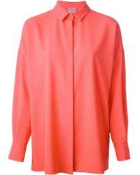Philosophy di Alberta Ferretti Concealed Fastening Shirt - Lyst