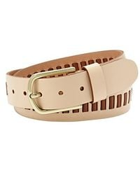 Fossil Laced Leather Belt - Lyst