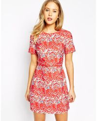 Oasis | Blossom Printed Shift Dress | Lyst