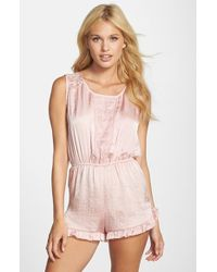 Band Of Gypsies - Lace Trim Romper - Lyst