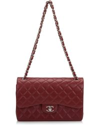 e7424ac91f8a06 Madison Avenue Couture. Chanel Red Quilted Lambskin Medium Classic Double  Flap Bag