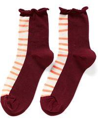 Hansel From Basel 'Ladder' Anklet Socks - Lyst