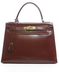 Hermès Pre-Owned Marsala Boxcalf Kelly 28Cm Bag purple - Lyst