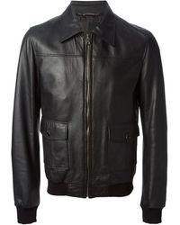 Dolce & Gabbana Classic Leather Jacket - Lyst