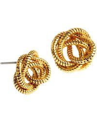Diane von Furstenberg - Knotted Snake Chain Stud Earrings - Lyst