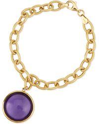 Goshwara - Mischief 18k Gold Amethyst Chain Link Bracelet - Lyst