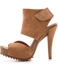 Pedro Garcia Piper Two Band Sandals Camel - Lyst