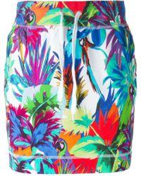 Love Moschino Tropical Print Skirt - Lyst