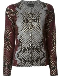 Zadig & Voltaire Snake Print Cardigan - Lyst