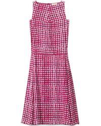 Tory Burch Silk Tea-Length Dress - Lyst