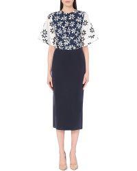 Issa Lucy Silk-Blend Dress - Lyst