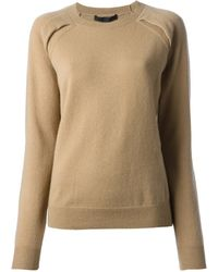 Alexander Wang Pleated Shoulder Sweater - Lyst