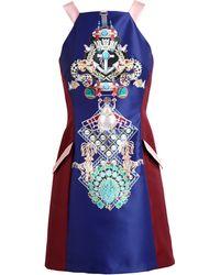 Mary Katrantzou Totem Print Dress - Lyst