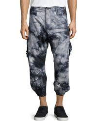 PRPS Tie-dye Cropped Jogger Pants - Lyst