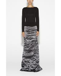 Nicole Miller Ivy Techno Metal Combo Gown - Lyst