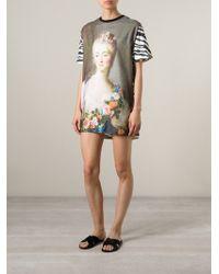 Emanuel Ungaro Printed T-Shirt Dress - Lyst