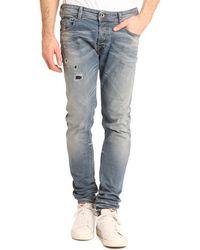 Diesel Sleenker Raw Denim Skinny Jeans - Lyst