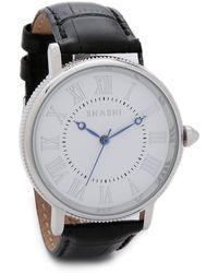 Shashi - Classique Watch - White Gold/Black - Lyst