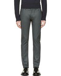 Calvin Klein Grey Coated Jeans - Lyst