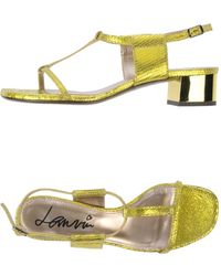 Lanvin Green Sandals - Lyst
