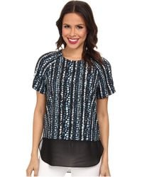 DKNY Chiffon Double Layer Blouse - Lyst