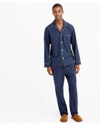 J.Crew Heathered Flannel Pajama Set - Lyst