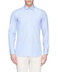 Turnbull & Asser Cutaway Collar Cotton Poplin Shirt blue - Lyst