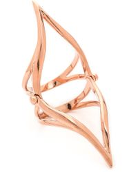 Katie Rowland - Parisian Knuckle Ring Rose Gold - Lyst