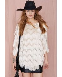 Nasty Gal Shagging Rights Fringe Top - Lyst