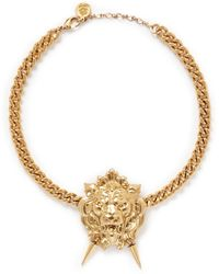 Ela Stone - 'lion' Metal Appliqué Necklace - Lyst