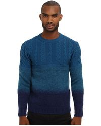 Costume National Runway Ombre Cable Knit Sweater - Lyst