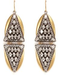 J.Crew | Crystal Triangles Earrings | Lyst