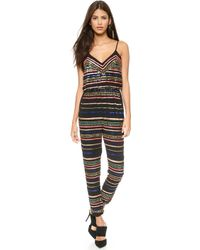 Mara Hoffman Multicolor Sequin Jumpsuit   - Lyst