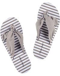 Black.co.uk - Marbella - Natural Flip Flops - Lyst