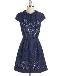 Chi Chi Swirls Unfurl Dress - Lyst