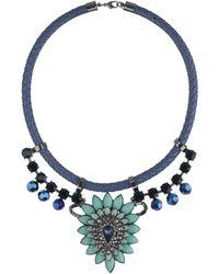 Topshop Navette Stone Collar - Lyst