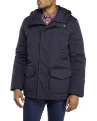 Verri - Navy Hooded Down Jacket - Lyst
