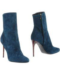 Balmain Blue Ankle Boots - Lyst